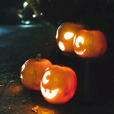 Jack o' lanterns for Halloween